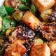Honey Glazed Roasted Brussels Sprouts & Tofu